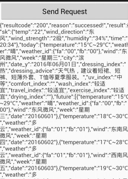 Android解析聚合數據之天氣預報- IT閱讀